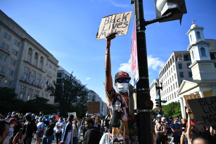 Proteste nahe des Weißen Hauses