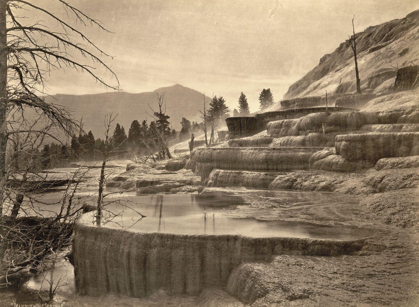 Historische Reisebilder - Mammoth Hot Springs