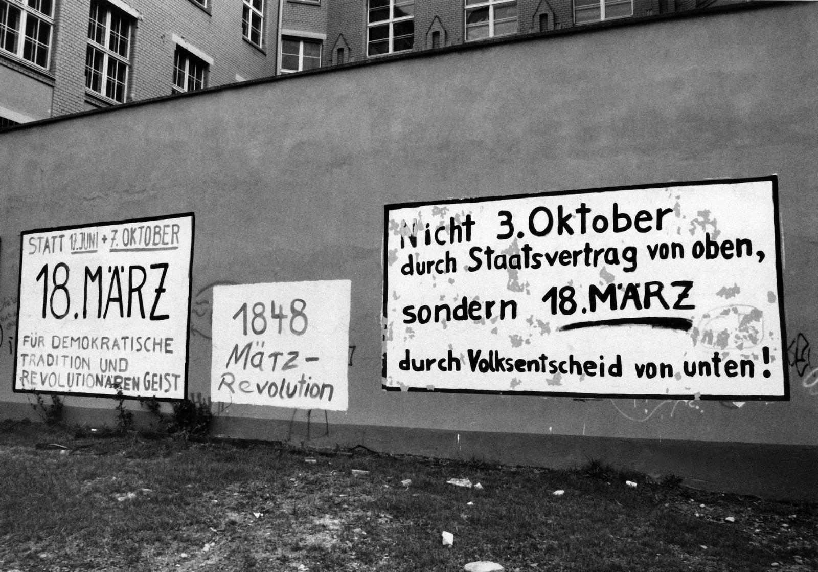 Volkskammerwahl 1990 - Innenpol DDR 1990