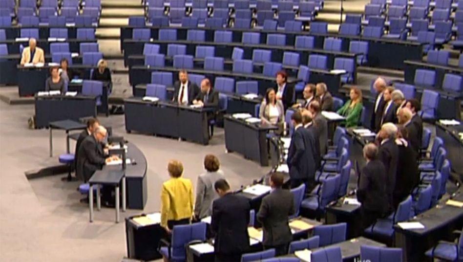 Screenshot von Meldegesetz-Abstimmung: Schwarz-Gelb erhebt sich zur Zustimmung
