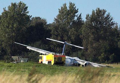 Verunglücktes Flugzeug in Aalborg: Glimpflicher Ausgang