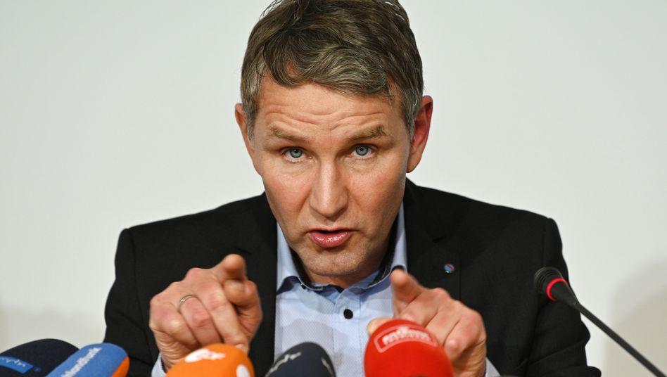 Björn Höcke, Fraktionsvorsitzender der AfD im Thüringer Landtag