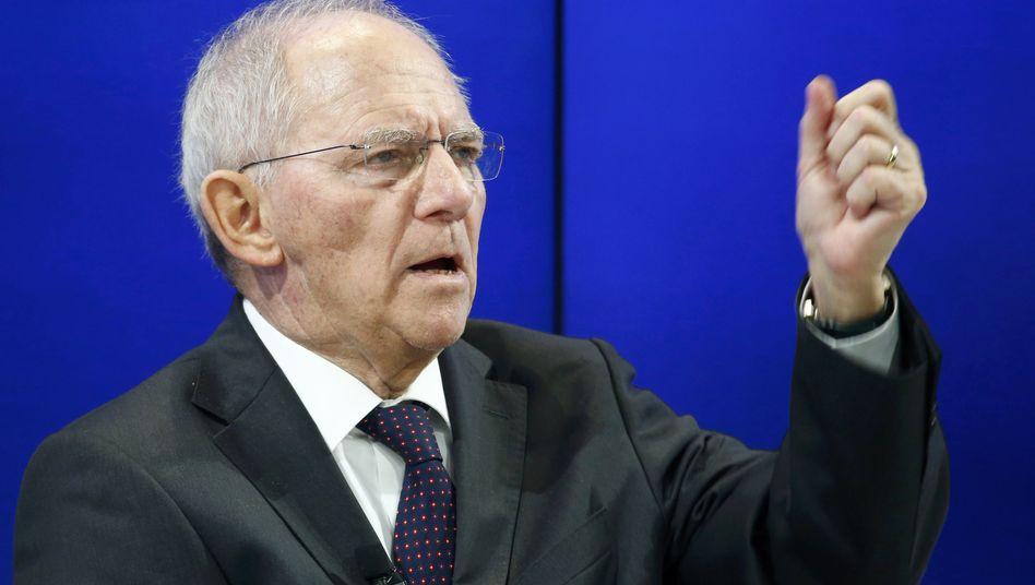 Bundesfinanzminister Wolfgang Schäuble (Archivbild)