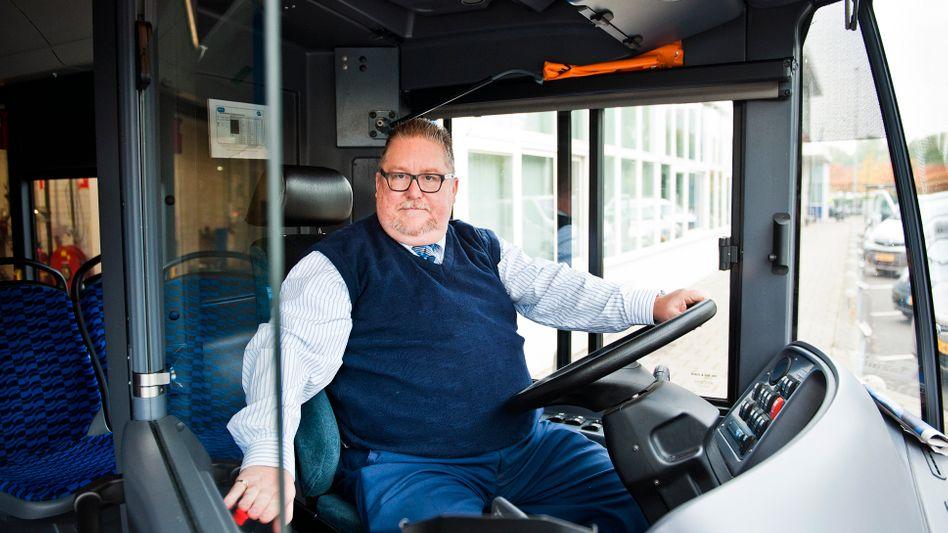 Busfahrer John Nederhof in Amsterdam: Immer wieder angespuckt