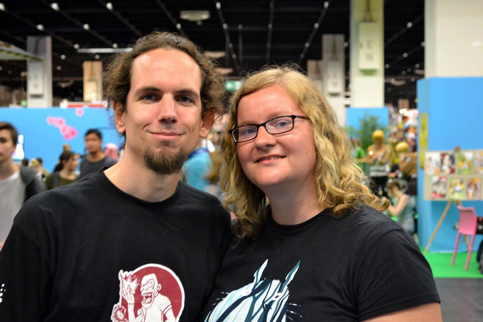 Pärchenfotos Gamescom/ Christian und Claudia