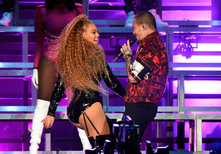 Pop-Ikone Beyoncé, Latin-Star J Balvin beim Coachella Festival 2018: Diversität als Mainstream