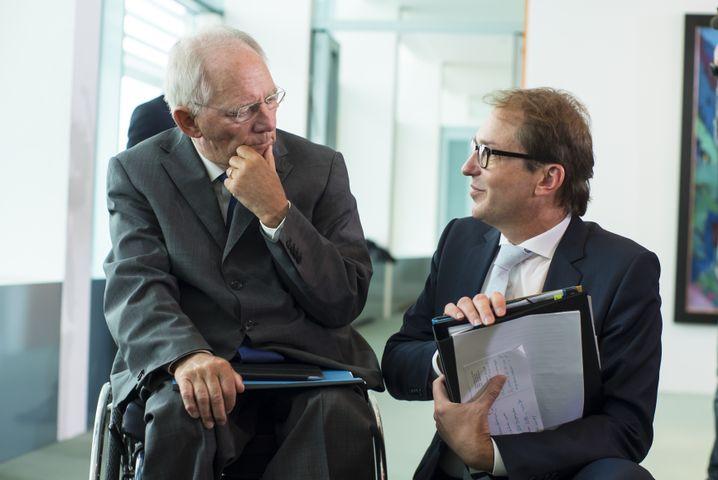 Minister Schäuble und Dobrindt