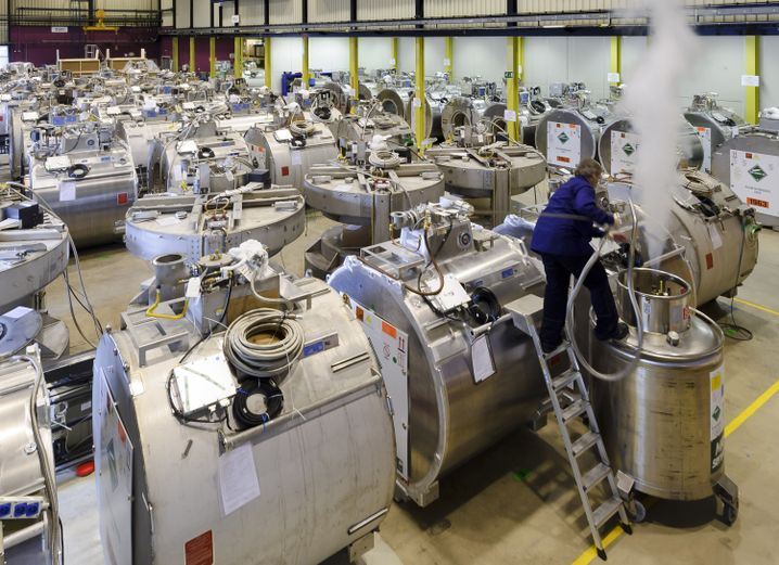 Für die Herstellung von MRT-Geräten wird Helium verwendet