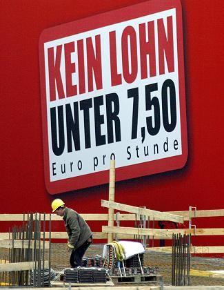 """DGB-Plakat für Mindestlohn: Nur fünf Branchen statt """"zehn und mehr"""""""