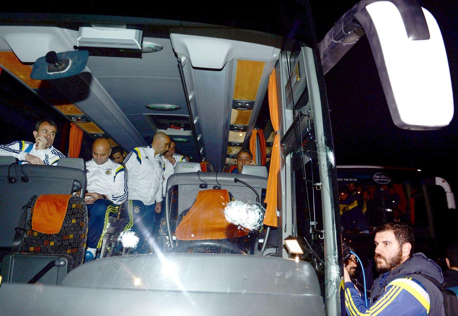 Fenerbahces team bus shot by gunman