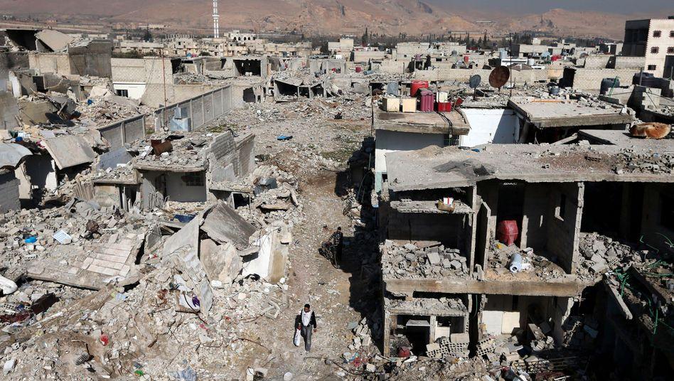Zerstörte Häuser in Syrien (Symbolbild): Schwere Anschuldigungen gegen das Assad-Regime