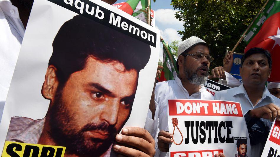 Unterstützer von Memon: Kritik an Exekution in Indien