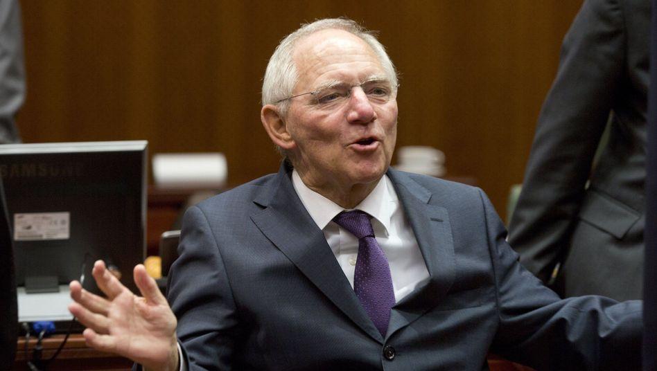 """Schäuble: """"""""Ich verwette nicht mein nicht vorhandenes Vermögen darauf"""""""