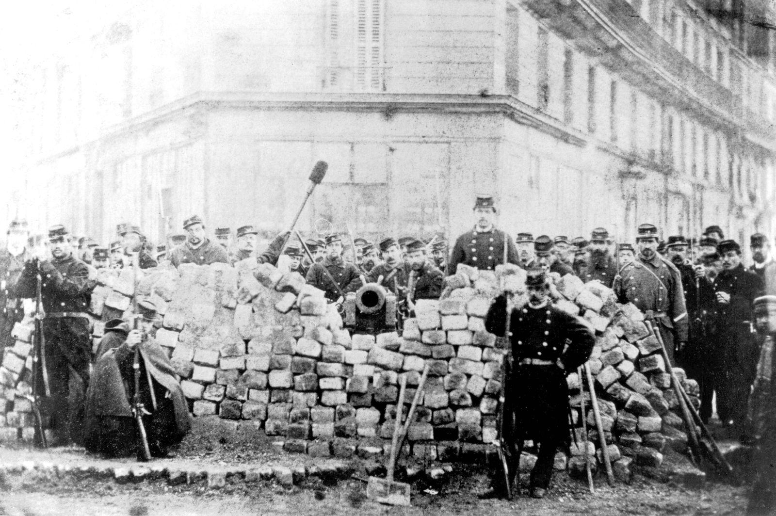 Barricade in a street Barricade in a street 1871 France Paris Commune Coll Jacques Chevallier PUB