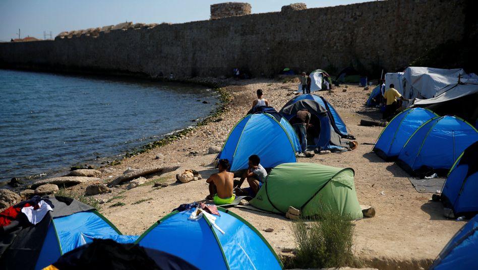 Flüchtlinge auf griechischer Insel Chios