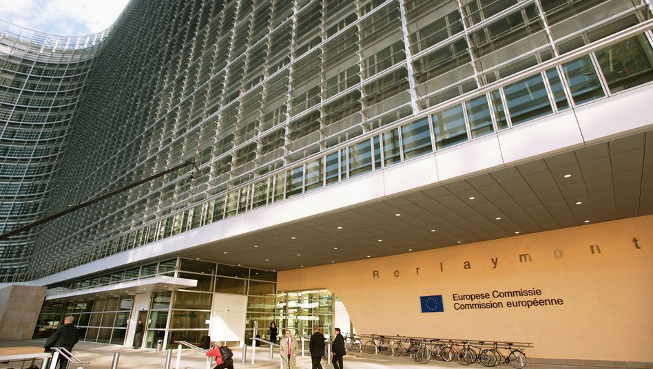 The Berlaymont Building in Brussels serves as the official headquarters of the European Commission, the EU's executive.
