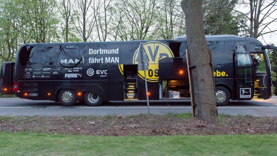 BVB-Bus nach dem Anschlag
