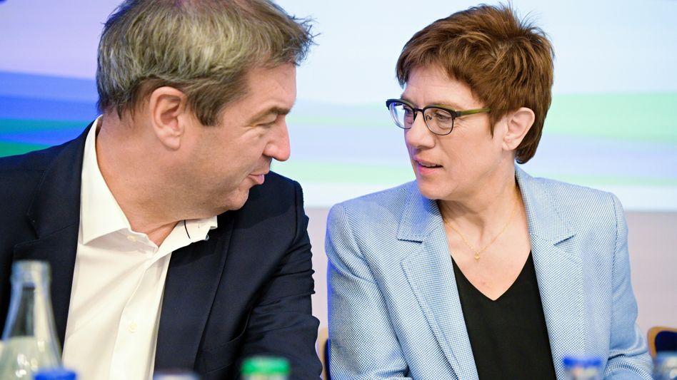 Parteivorsitzende Söder, Kramp-Karrenbauer