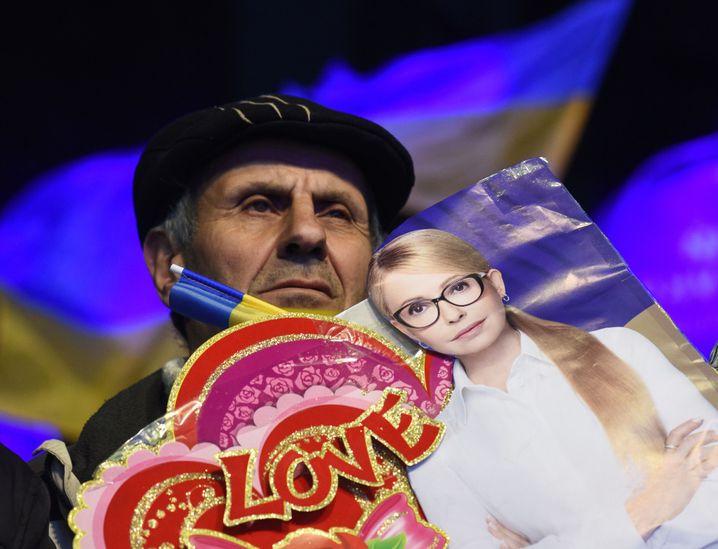 Anhänger von Julija Tymoschenko