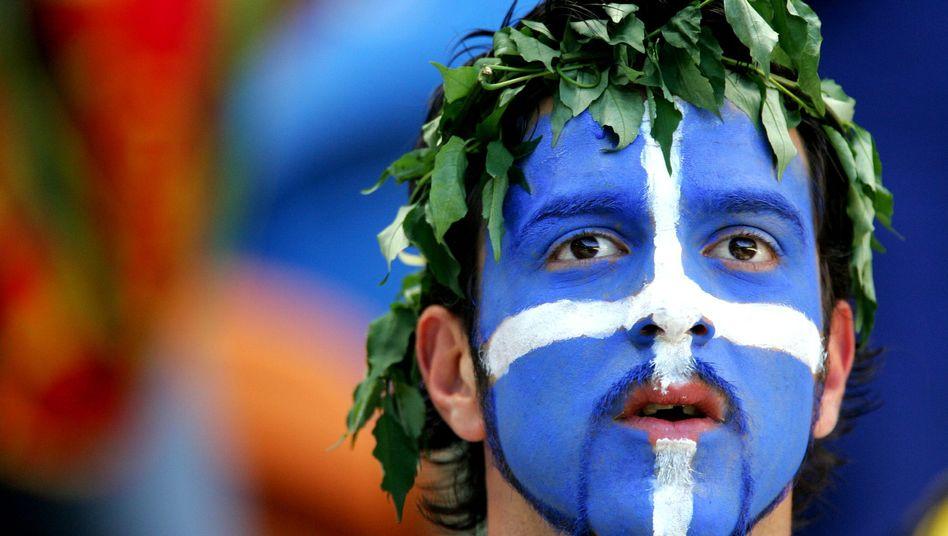 Griechischer Fan: Finanzprobleme im unterklassigen Fußball