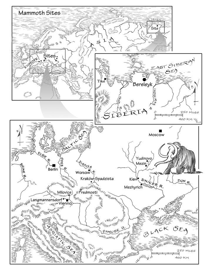 Fundorte: Die von Shipman neu interpretierten Fundstätten im Überblick