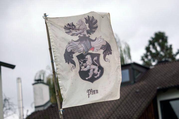 """Flagge einer """"Reichsbürger""""-Bewegung"""