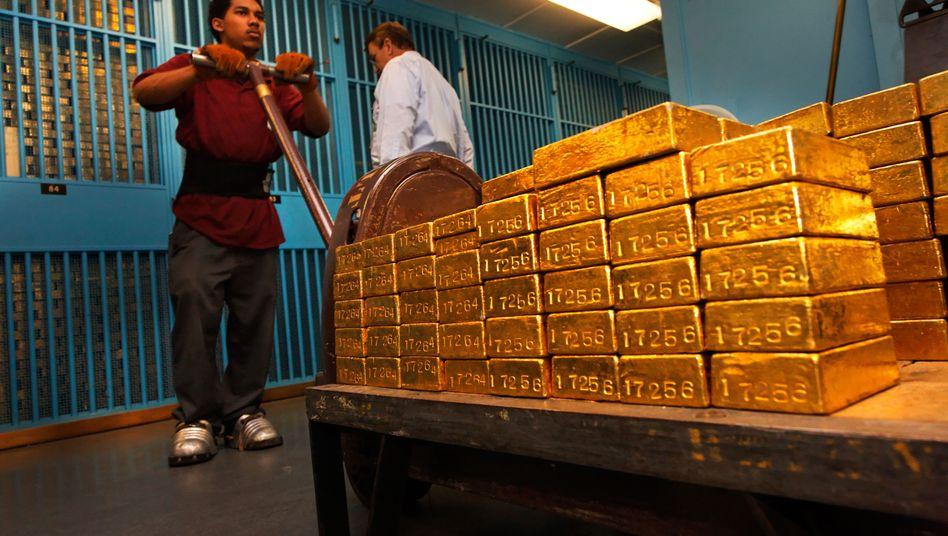 Goldbarren der US-Notenbank Fed: Rekordkäufe treiben Preis für das Edelmetall