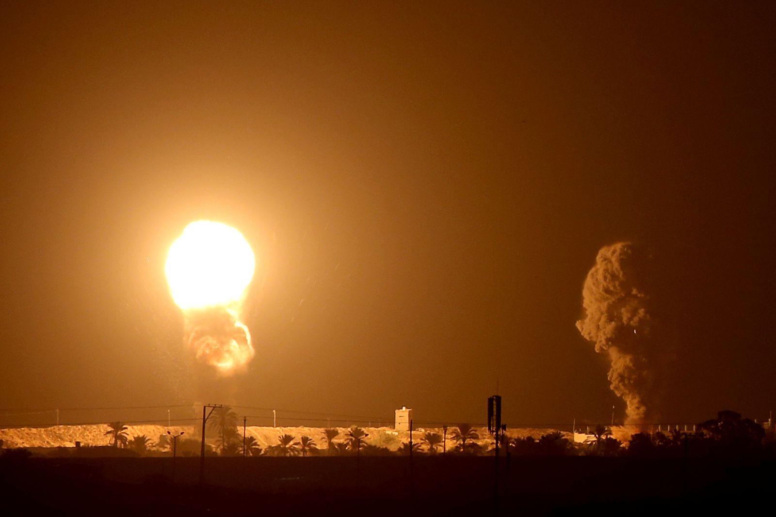 Israeli aircraft strike in Gaza