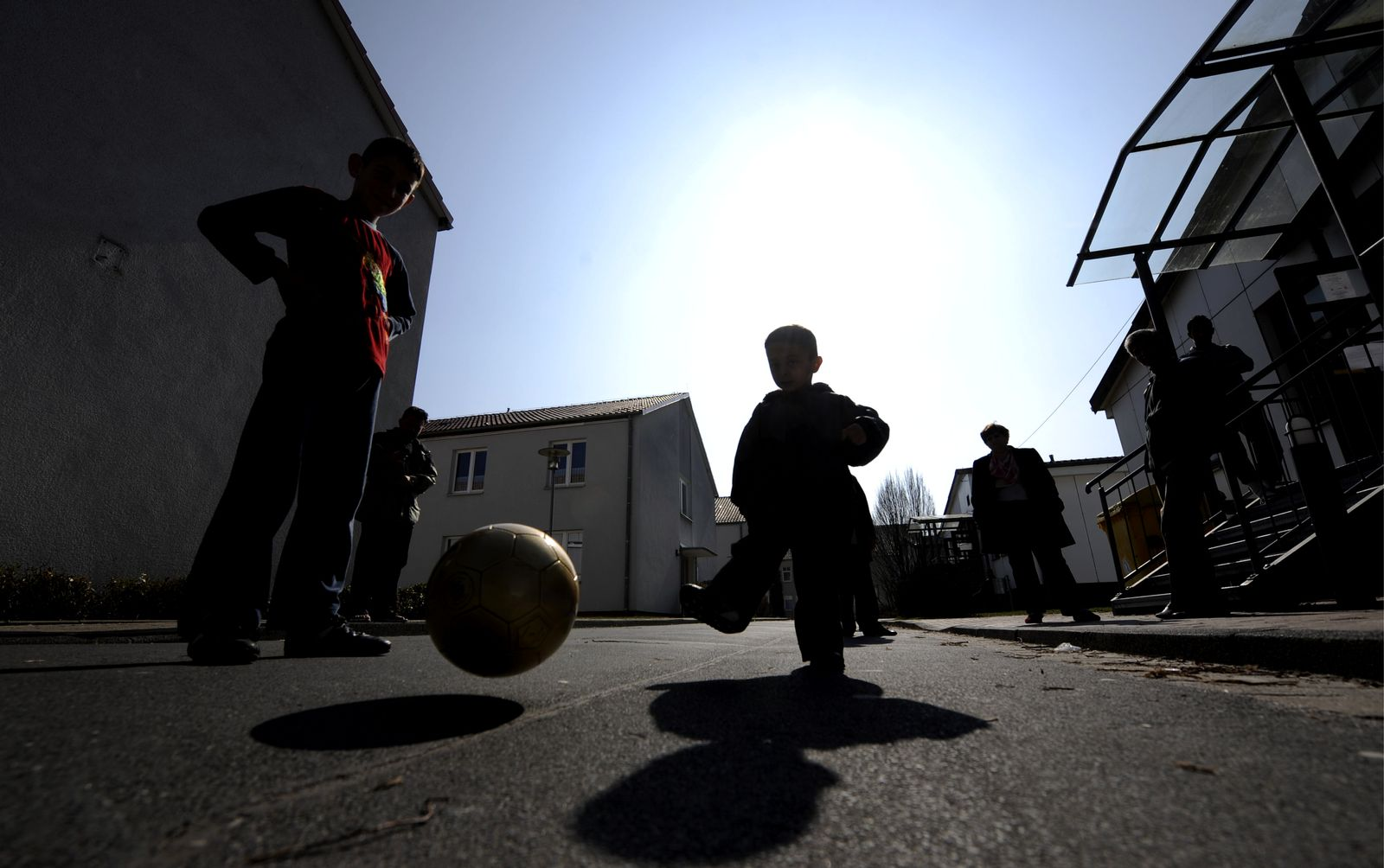 NICHT VERWENDEN Flüchtlingskinder / Durchgangslager Friedland