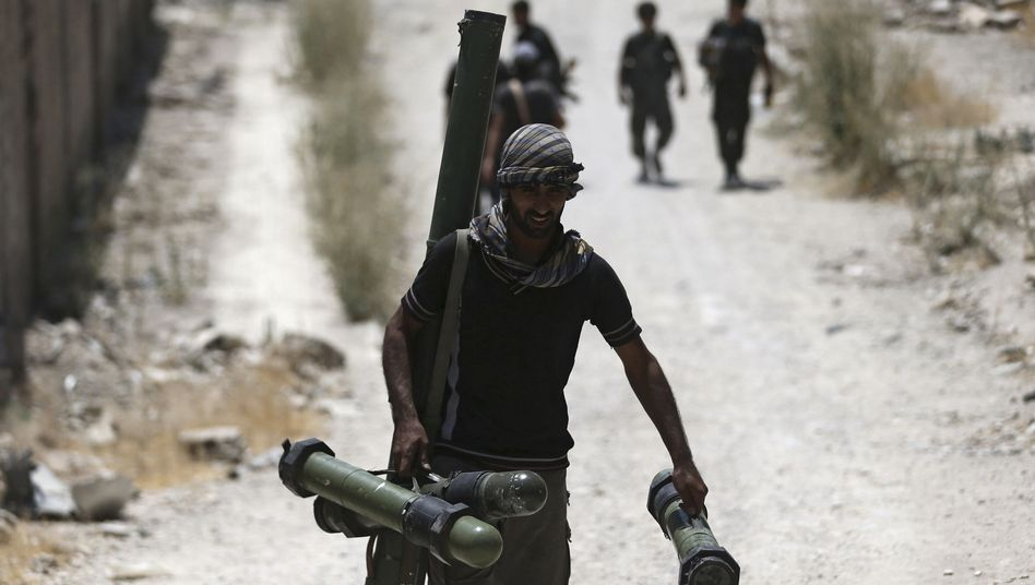 """Syrische Rebellen (nahe Damaskus/Symbolbild): """"Es ist eine kleine Anzahl"""""""