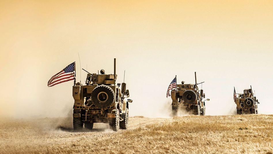 US-Truppen beim Abzug aus Syrien