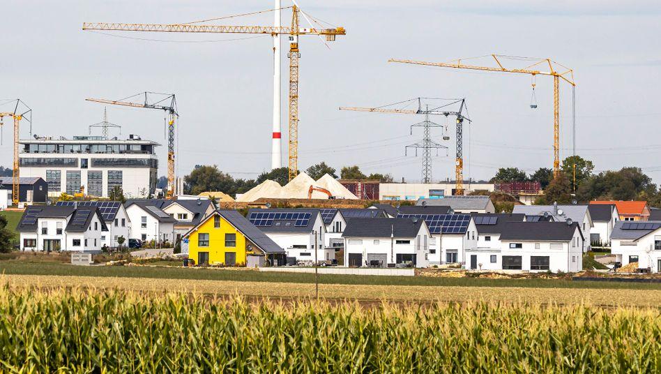 Neubaugebiet auf der Schwäbischen Alb