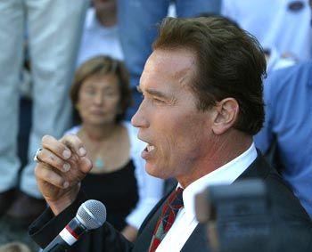 Der Wahlkampf hat für Schwarzenegger begonnen