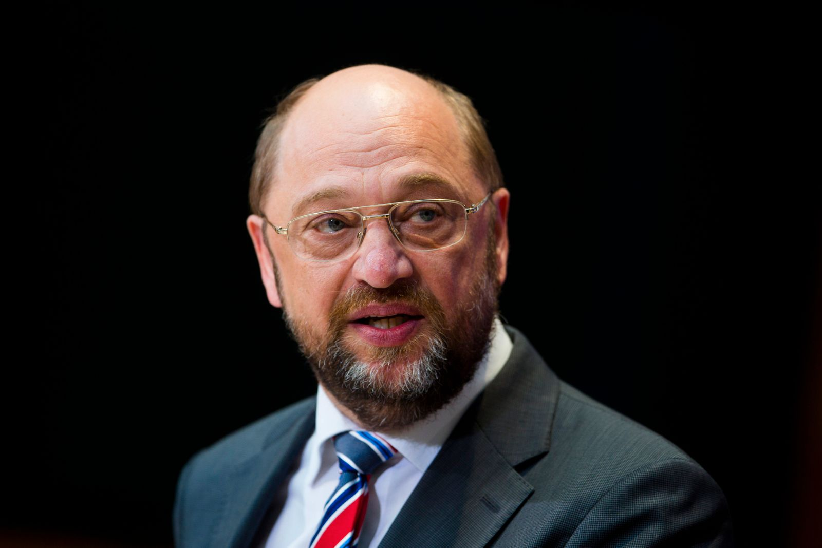 Martin Schulz, candidate for European Commission president of Germany's Social Democratic Party (SPD), attends a press briefing after European Parliament election in Berlin