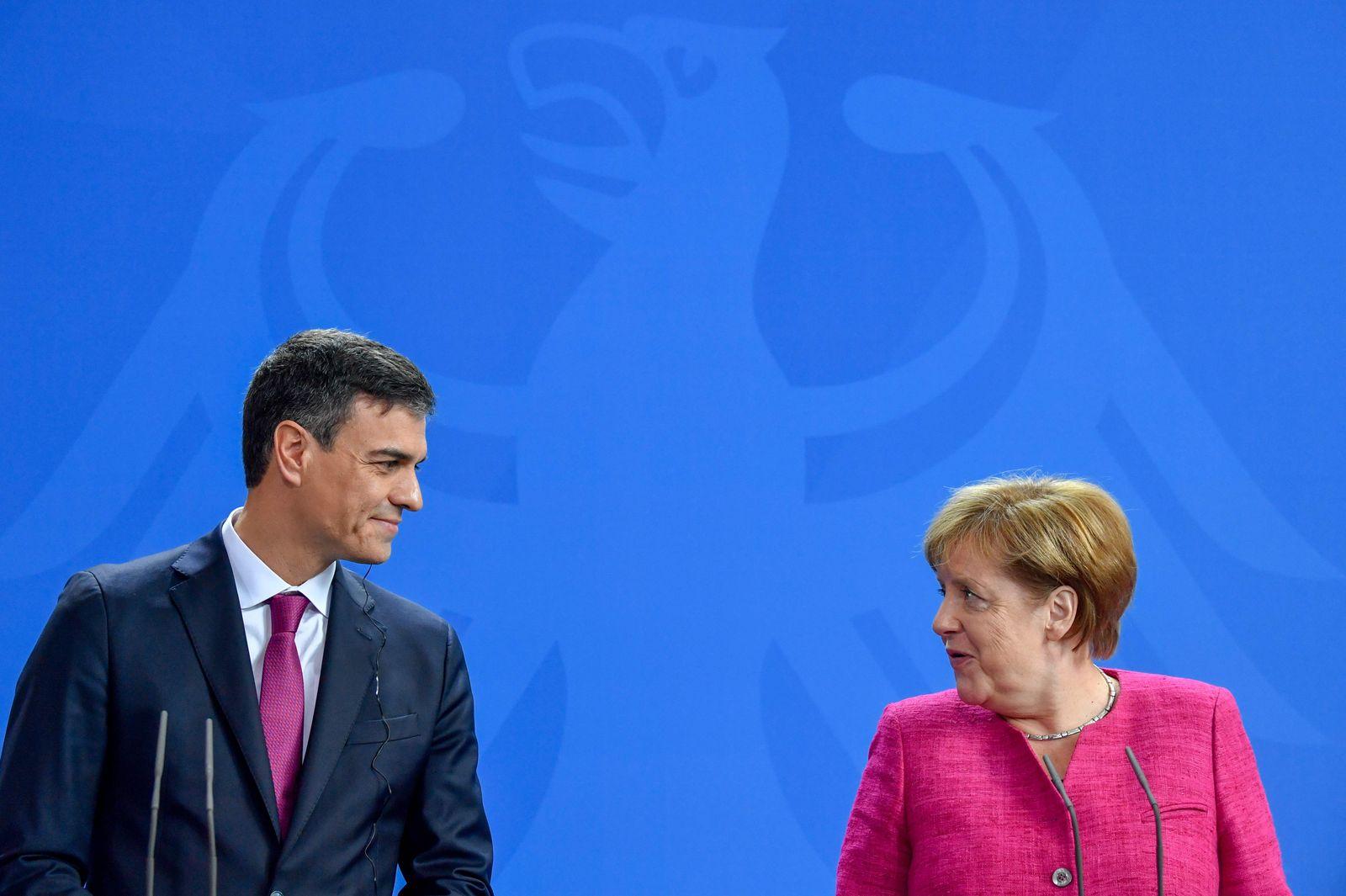 Angela Merkel und Pedro Sanchez