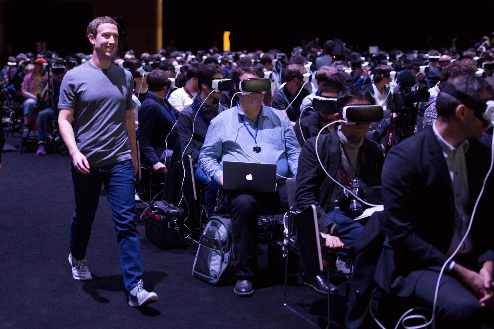 Mark Zuckerberg beim Mobile World Congress