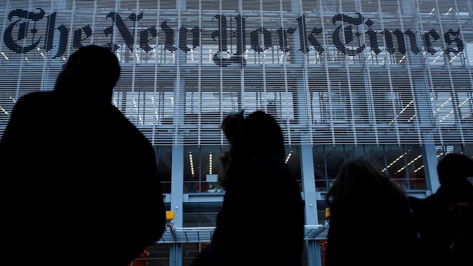 """Gebäude der """"New York Times"""": Ärger mit den Wahlkampfleuten des Präsidenten"""