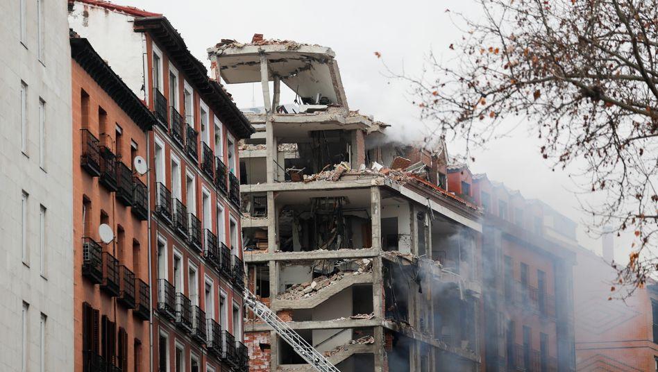 Schwer beschädigtes Haus in Madrid: »Unser Gebäude hat 15 Sekunden lang gezittert«