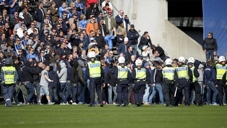 Djurgårdens-Fans: Polizei brachte Situation unter Kontrolle