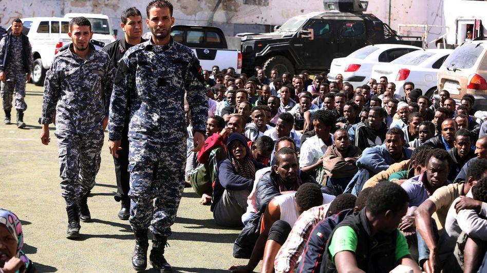Flüchtlinge in Tajura, Libyen: Regierung pocht auf die Souveränität des Staates