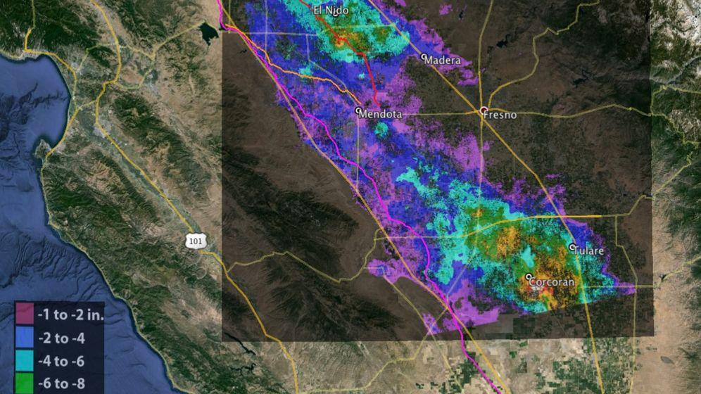 Satellitenbilder: Dramatischer Wassermangel