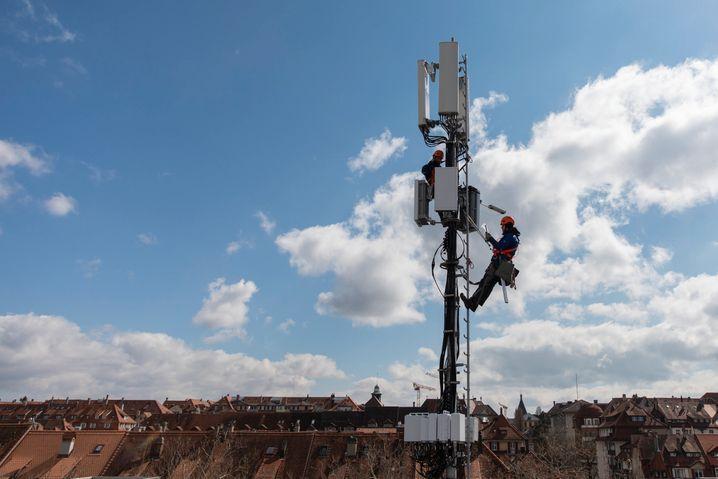 So sieht eine Antenne für das 5G-Funknetz aus.