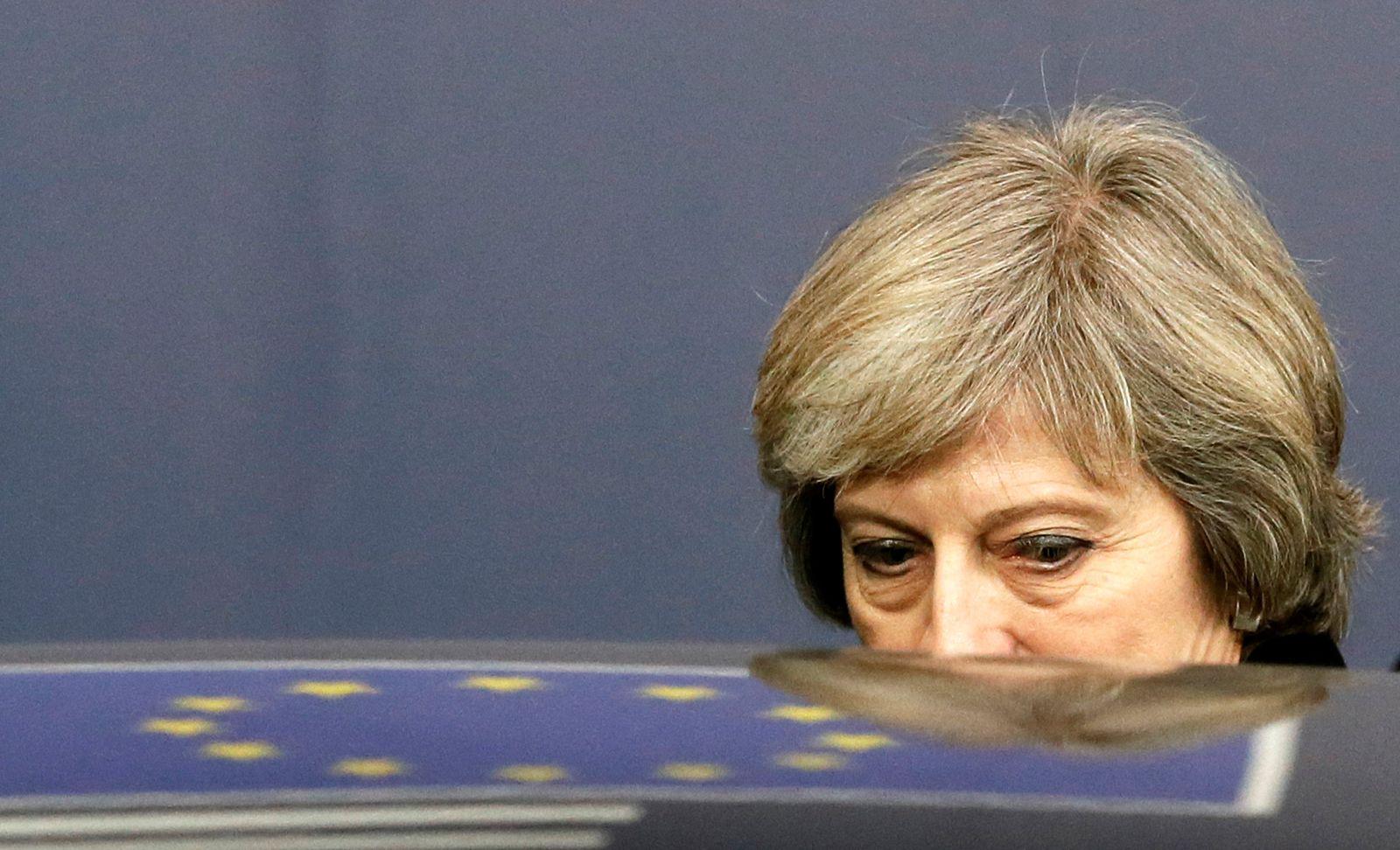 EINMALIGE VERWENDUNG BRITAIN-EU/BANKS Theresa May