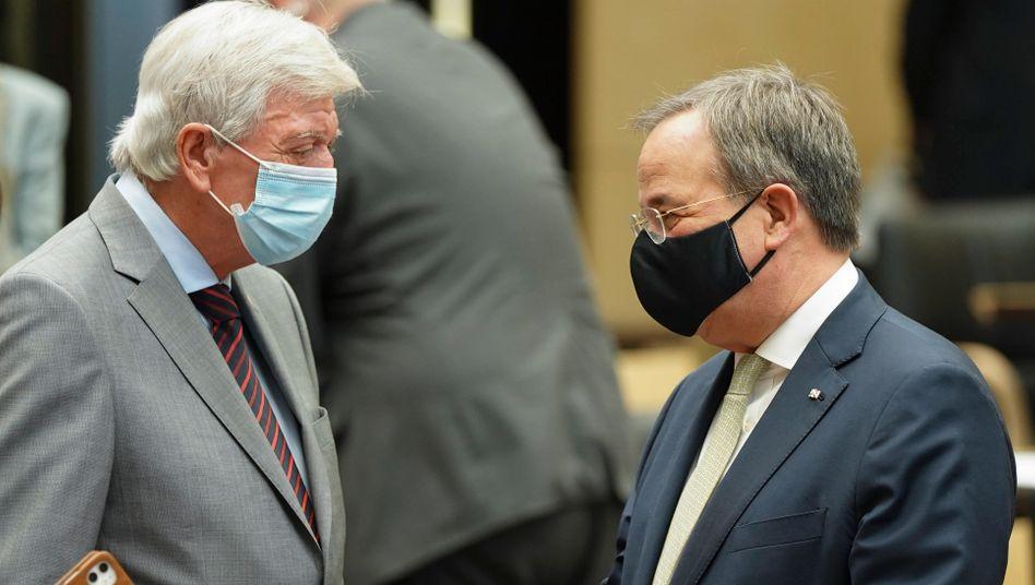 Ministerpräsidenten unter sich: Volker Bouffier und Armin Laschet