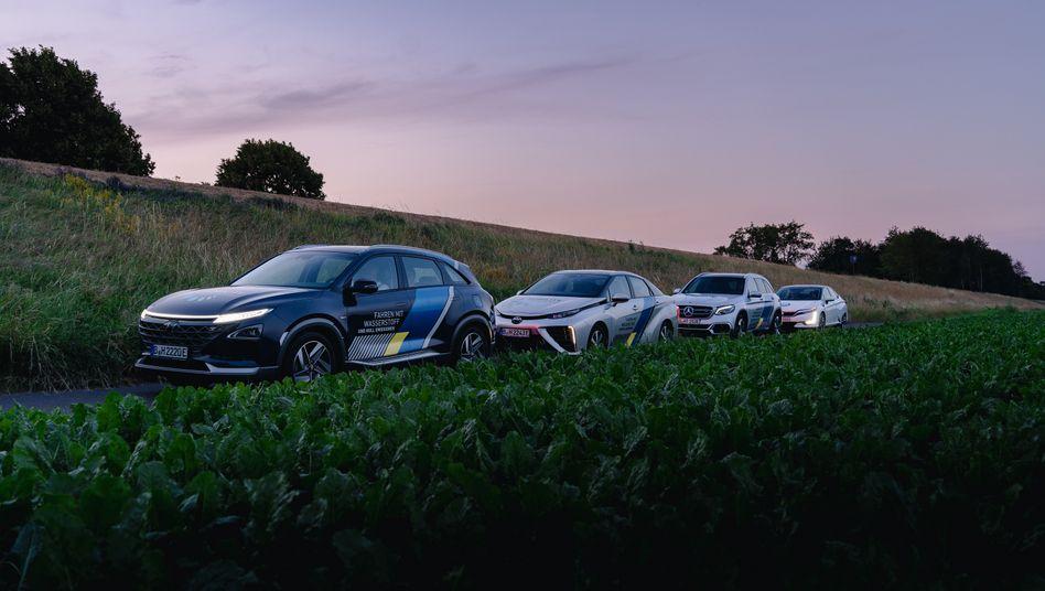 Vier Pkw-Modelle mit Brennstoffzelle und Wasserstoffantrieb waren in Deutschland mal im Angebot - doch aktuell sind nur noch zwei der Fahrzeuge hierzulande bestellbar