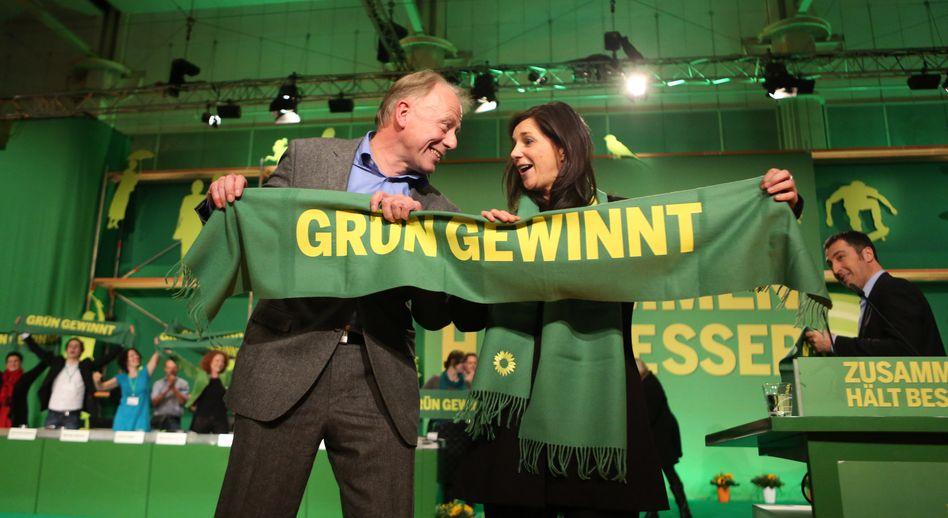 Grünen-Spitze Trittin, Göring-Eckardt: Liebe zum Staat hat in der Linken Tradition