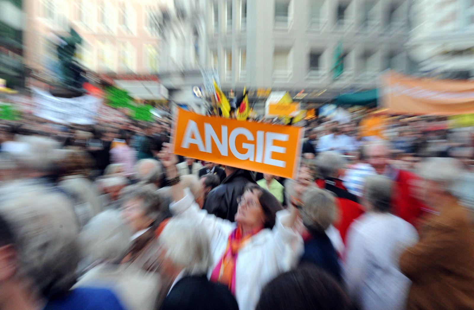 Merkel Flashmob Hamburg