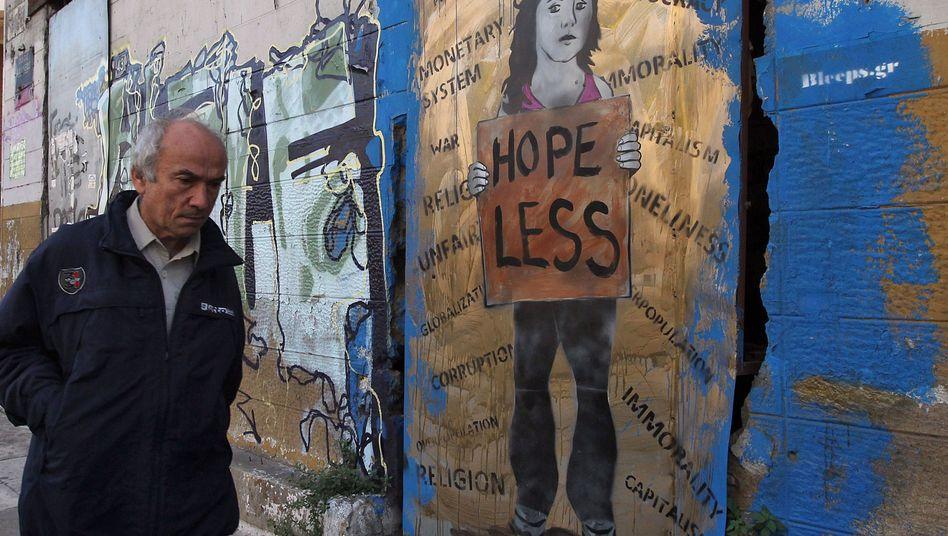 Graffiti in Athen: Die Produktivitätsunterschiede sind zu groß