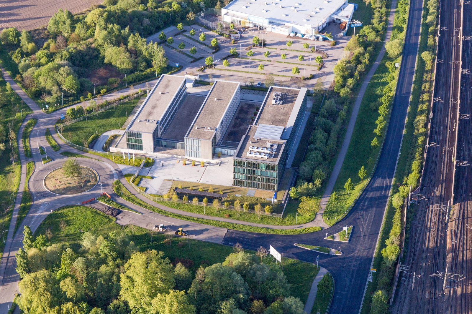 Werksgelände der GRENKE AG, Stammhaus in Baden-Baden im Bundesland Baden-Württemberg, Deutschland