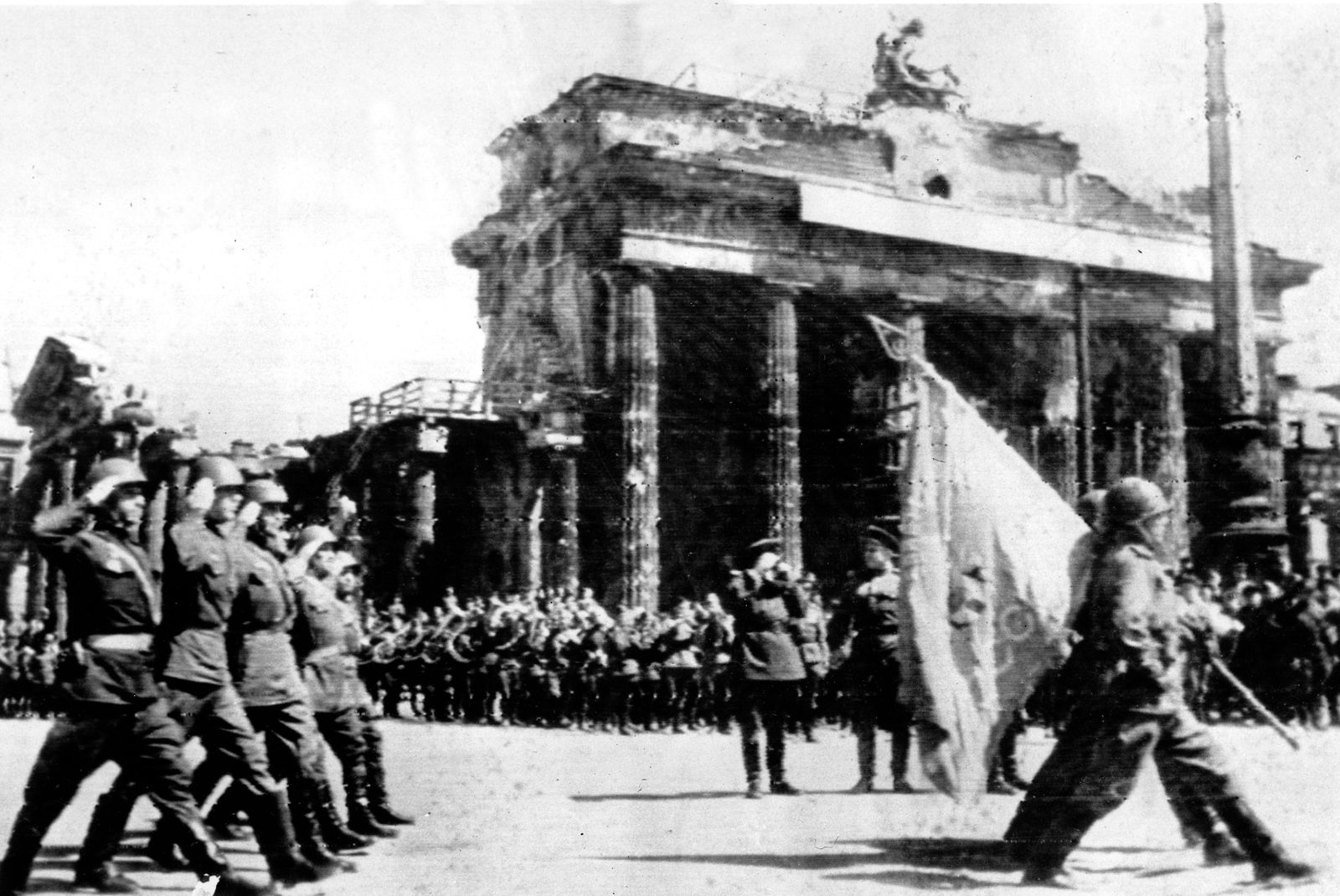 RUSSIANS MARCH IN BERLIN